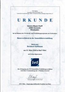 Zertifikat Bieterverfahren 2018