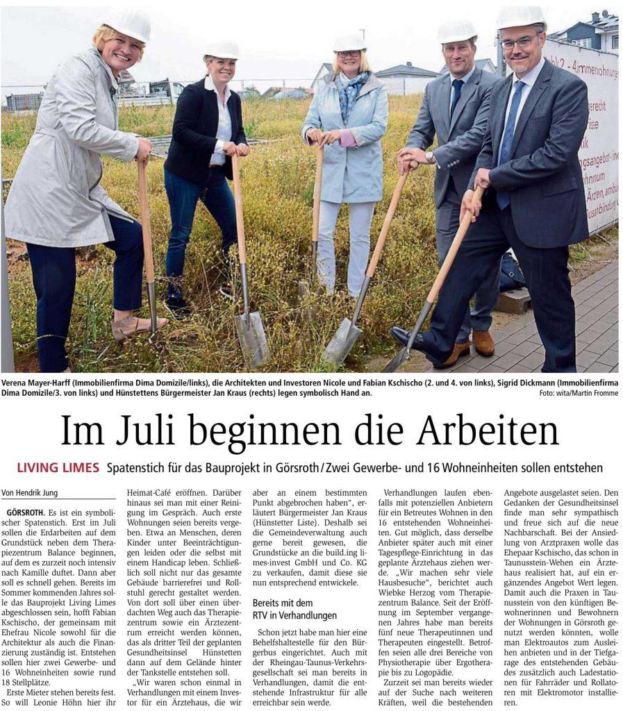 Idsteiner Zeitung: Im Juli beginnen die Arbeiten